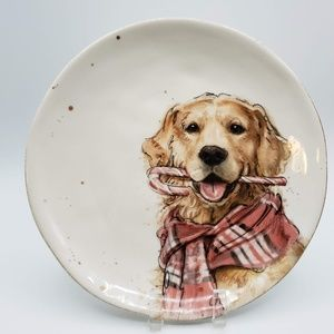 Southern Living Holiday Golden Retriever Plate